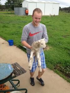 Ben with a lamb
